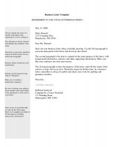 business letter template business letter template 6