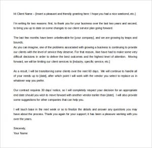 business letter template word download termination of service letter