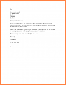 business letter templates month resignation letter simple resignation letter month notice