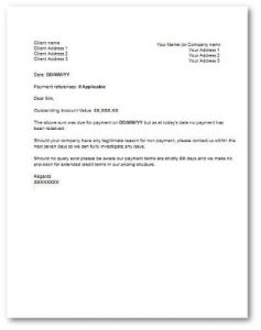 business letter templates late payment letter