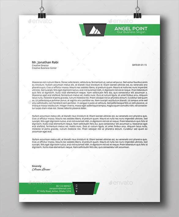 business letterhead format