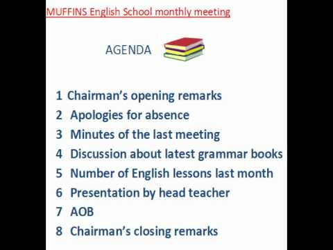 business meeting agenda