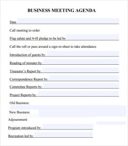 business meeting agenda template business meeting agenda template pdf