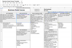 business model template business model google docs screenshot