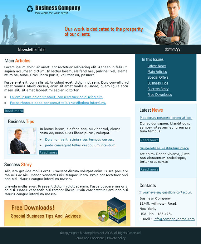 Business Newsletter Templates | Template Business