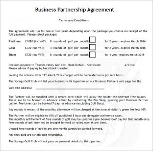 business partnership agreement business partnership agreement download
