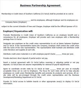 business partnership agreement business partnership agreement form