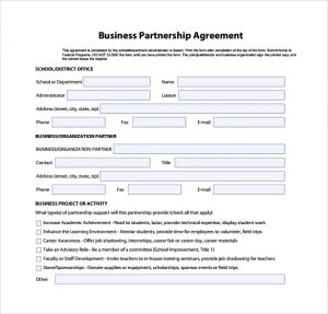 business partnership agreement business partnership agreement simple