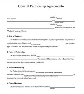 business partnership agreement template business partnership agreement form