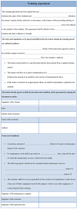 business partnership agreement template training agreement template