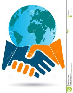 business partnership contract global business deal
