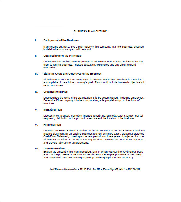 Business Plan Outline Template Business - Business plan template pdf