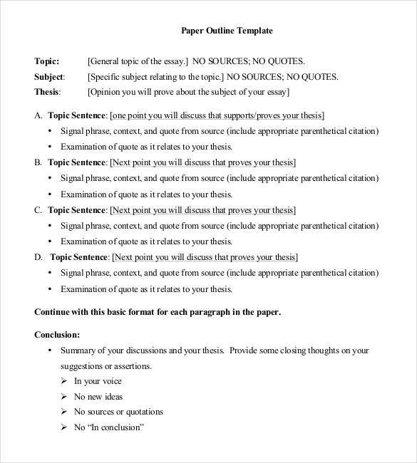 Business Plan Outline Example Template Business - Basic business plan outline template