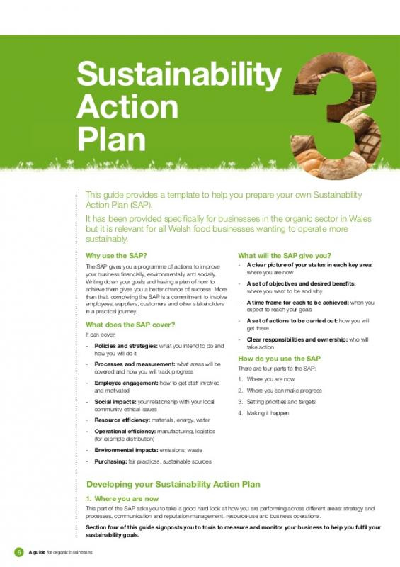 Sample community sustainability plan table of contents checklist.