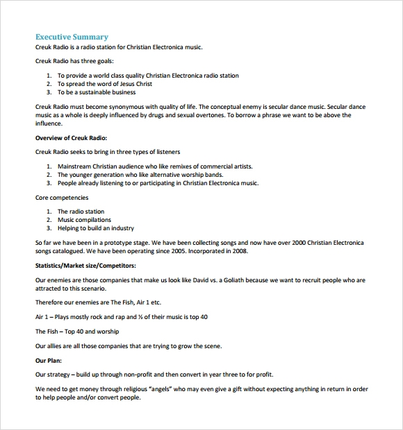 Business Plan Sample Pdf Template Business - Free business plan proposal template
