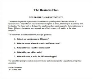 Business Plan Sample Pdf Template Business - Business plan sample template