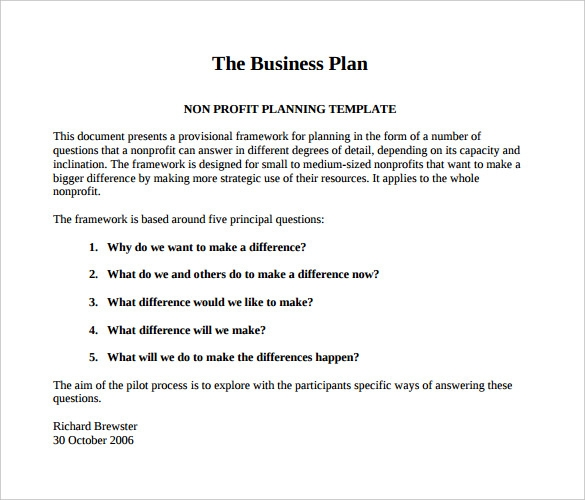 Business Plan Sample Pdf Template Business - Business plan template for small business