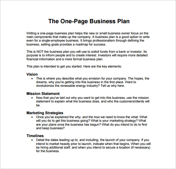 Attractive Business Plan Sample Pdf