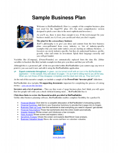 business plan sample pdf sample business plan pdf