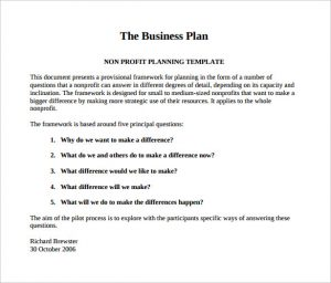Business Plan Template Pdf Template Business - Business plan free template download