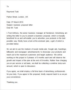 business proposal format business proposal letter to client