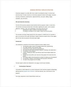 business proposal format business proposal template word
