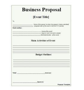 business proposal template business proposal 10