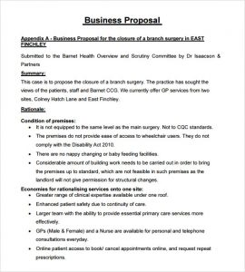 business proposal template business proposal template free
