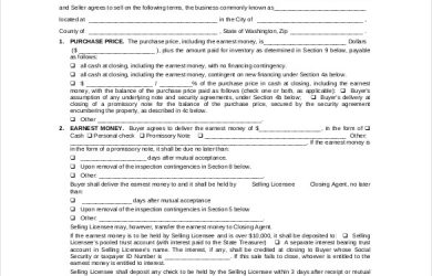 business purchase agreement template business purchase agreement form