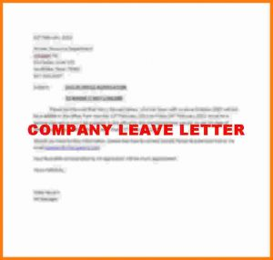 business receipt template leave letter format for company company leave letter