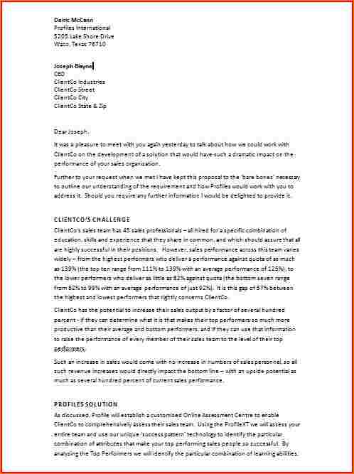 business recommendation letter