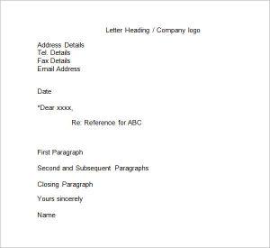 business reference letter business reference letters format