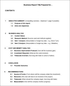 business report format business report example ask