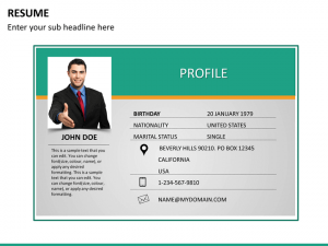 business resume template resume mc slide