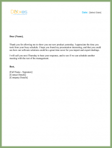 business thank you letter business thank you letter for meeting