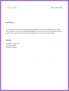 business thank you letter thank you for your business letter