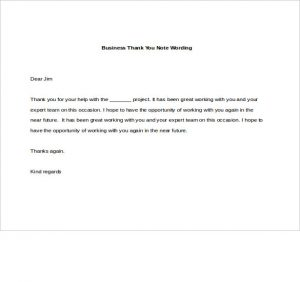 business thank you notes business thank you note wording