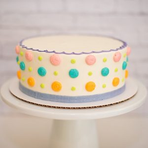 cake order form multi polka dot cake