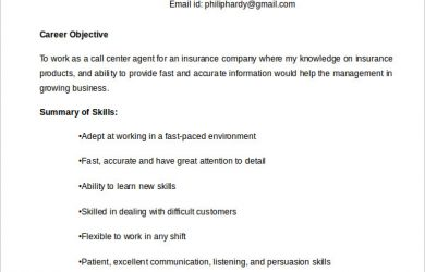 call center resume examples call center agent resume example