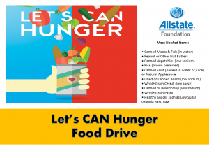 can food drive flyer allstate food drive