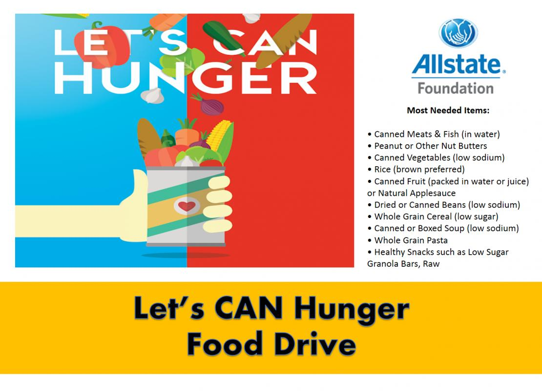 can food drive flyer