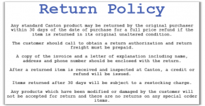 cancellation letter template return policy