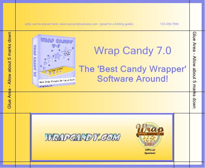 candy wrapper template