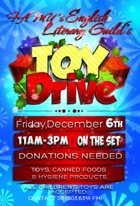 canned food drive flyer holiday toy drive flyer