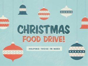 canned food drive flyer slide