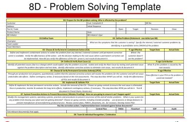 capability statement template d problem solving process