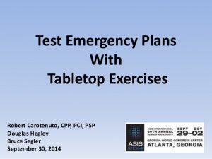capability statement template asis conf tabletop exercises for bcp