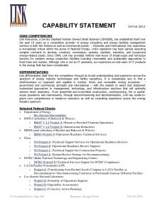 capability statement template link capabilities statement
