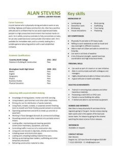 capability statement template pic general laborer resume template