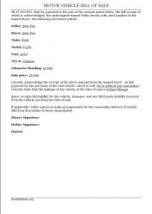 car bill of sale ga billofsale
